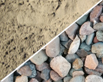 River Rock and Sand in stock