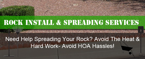 Arizona landscaping rock spreading services