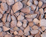 Screened rock in stock